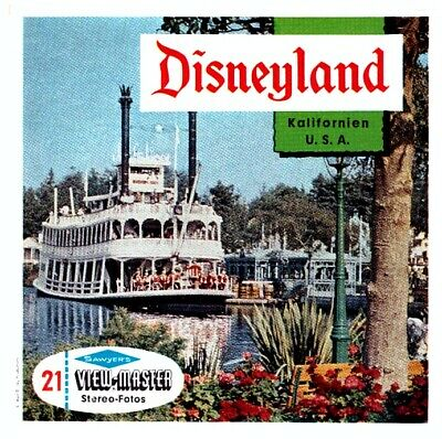 3 VIEW-MASTER 3D Reels📽️DISNEYLAND KALIFORNIEN, A 240, DEUTSCH (California) USA