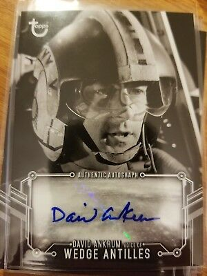 2018 Star Wars Black & White A New Hope David Ankrum as Wedge Antilles AUTO