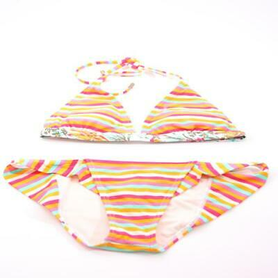 Stylish o ´ Neill Halter Neck Bikini Orange Colourful Striped Size 38 B New to _