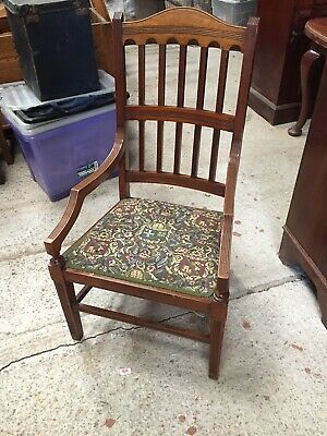 Vintage Decorative  Chair Throne Machine Made tapestry Seat   14/8/B
