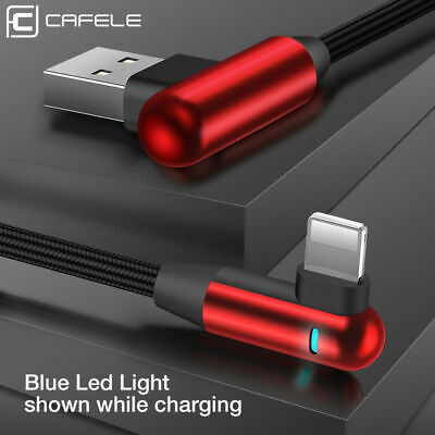 L Shape Fast Charging Cable For iPhone Lightning USB Charger Reversible Unbreak