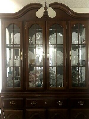 Chinese Carved Rosewood Dining Room Plate Cabinet *Plates not included*