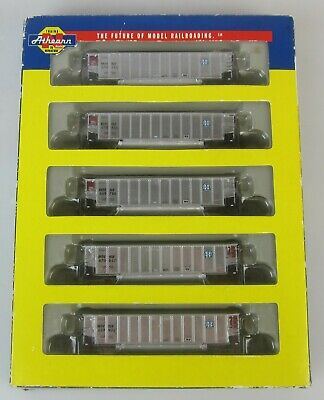 N Scale-Athearn - 10475 - 5 Pack Coalporter Train Carriages-Burlington Northern