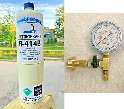R414b, Hot Shot Refrigerant R-414b, Disposable 20 oz Can, Cooler, Freezer Kit B