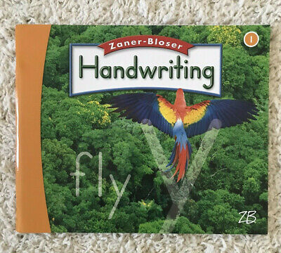 Zaner Bloser 1st Grade Student Workbook Worktext Handwriting Book Manuscript 1