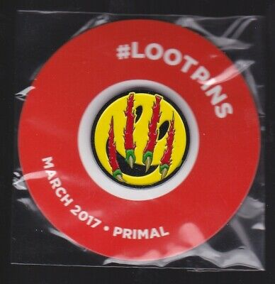 2017 March Loot Crate LootCrate LootPins Pin Primal Clawed Smiley Face