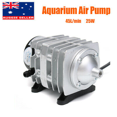 25W 45L/min Electromagnetic Aquarium Air Pump Compressor Oxygen Fish Pond AU