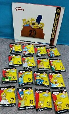 The Simpsons 20 Years Stick Ems Complete with Case *BRAND NEW & SEALED*