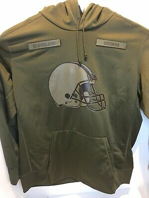 more photos bf316 8f57f NIKE MEN'S NFL Cleveland Browns Salute to Service Hoodie Sz ...