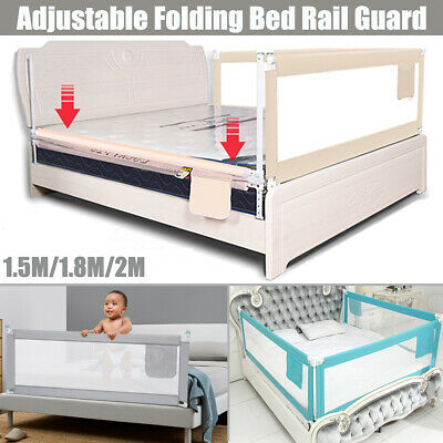 Bed Safety Rail Baby Bed Rail 2m Toddler Bed Guard 150cm Adjustable Folding GIFT