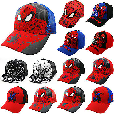 Children Kids Boys Spiderman Baseball Cap Hip Hop Snapback Sun Hat Adjustable