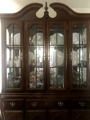 Antique Chinese Carved Rosewood Dining Room Plate Cupboard