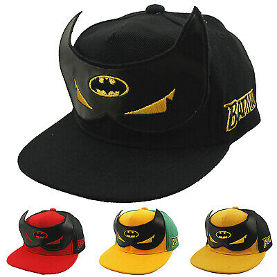Kids Boys Girls Toddler Batman Baseball Cap Hiphop Bboy Snapback Peaked Sun Hat