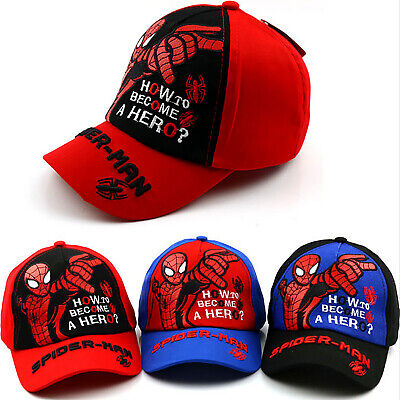 Boys Kids Spiderman Baseball Cap Summer Adjustable Snapback Sport Sun Hat Gift