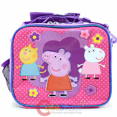 Peppa Pig School Lunch Bag Insulated Snack Bag Girls Pink