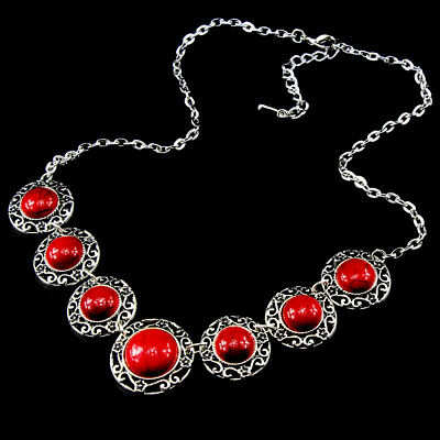 Turquoise Gemstone 925 Silver Plated Men Womens Vintage Necklaces Jewelry Gift
