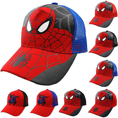 Kids Boys Spiderman Baseball Cap Snapback Trucker Mesh Hip Hop Summer Sun Hat
