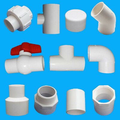 32MM X 20MM PVC Water Pipe Tube Adapter Connectors 2 Pcs