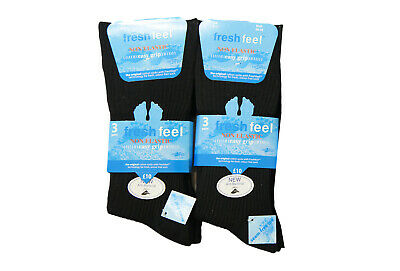 Mens Loose Grip Non Elastic Cotton Blend Ribbed Office Diabetic Socks 3 Pairs