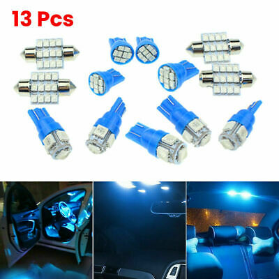 13x SUV Auto Car Interior LED Lights For Dome License Plate Lamp Kit Accessories