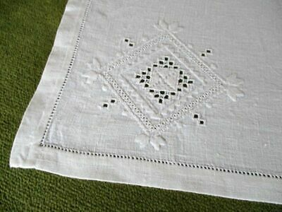 Antique Tablecloth Italian Embroidery - Linen