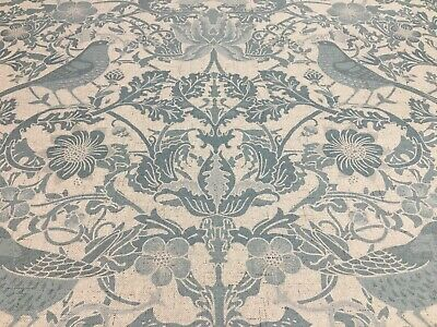 French Country Birds Toile Oval Room Blue  280cm Wide Curtain/Upholstery Fabric