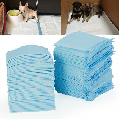 100*Puppy Training Pads 33X45Cm Toilet Pee Wee Mats Dog Cat Absorbent Trainer Uk