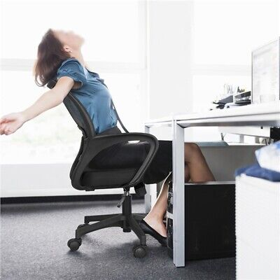 Adjustable Mesh Office Chair Executive Swivel Computer Desk Chair Mid-Back