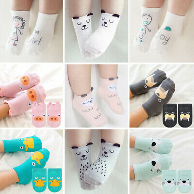 Baby Kids Toddler Children Cute Cartoon Print Cotton Booties Anklet Socks Ankle