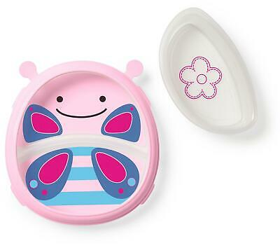 Skip Hop ZOO SMART SERVE PLATE AND BOWL - BUTTERFLY Toddler Feeding BN