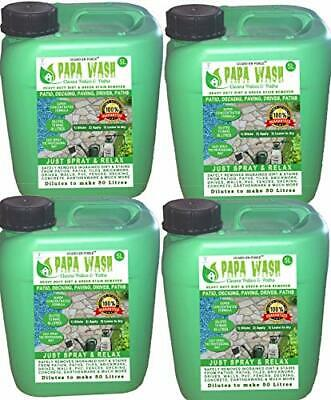 GUARD-EN-FORCE 4 X 5 Litres PAPA WASH PATIO and PATH CLEANER Super Concentrated