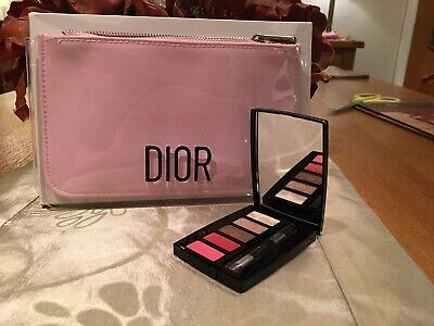 Dior Pink Make Up Bag Gift Set  incl Dior collection eye and lip palette
