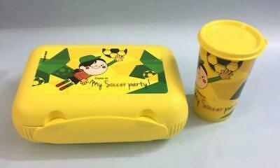 Tupperware at Lunch My Soccer Lunch Box withTumbler, Yellow