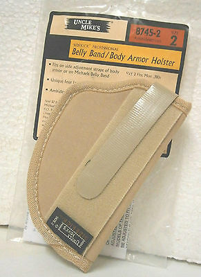 "Uncle Mike/'s 8743-2 Belly Band   Holster  Ambidextrous  Size  2  44/""-48/"""