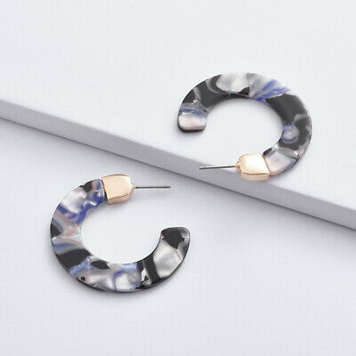 Fashion Acetate Acrylic Circle Hoop Earrings for Women Hoops Statement Jewelry