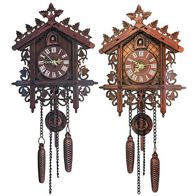 Old-fashioned Handcraft Cuckoo Clock Tree House Swing Wall Clock Art Room Decor