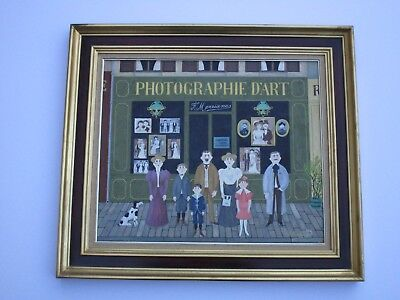 Fernand Boilauges Painting Folk Modernist 1960'S Masterful Naive France Paris