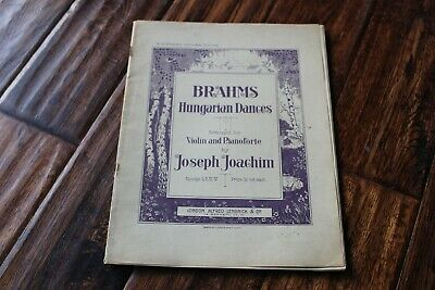 """Vintage Sheet Music - """"Brahms Hungarian Dances"""" for Violin and Piano"""