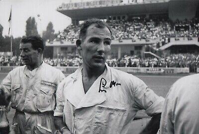 Stirling Moss Hand Signed 12x8 Photo - F1 Autograph 1.