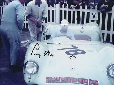 Stirling Moss Hand Signed 8x6 Photo - F1 Autograph.