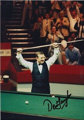 Dennis Taylor Hand Signed 7x5 Photo - Snooker Autograph.