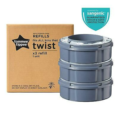 Tommee Tippee Twist And Click Nappy Disposal Sangenic Tec Refills X3 Refill Bin
