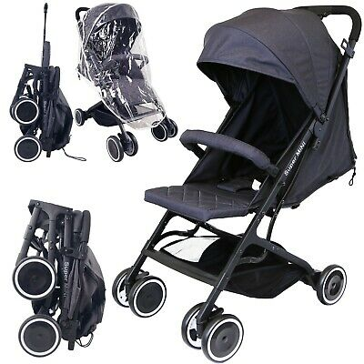 #iSafe Super MiNi Stroller - Black (Complete With Free Rain cover)
