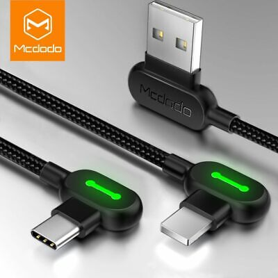 Mcdodo L Shape Fast Charging Lightning Charger Reversible Usb Unbreakable Cable