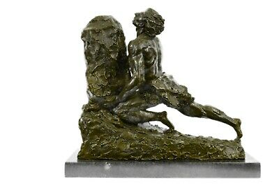 Jean Gregoire Bronze Statue 25 Lbs French Male 19Th Century Reproduction Figure