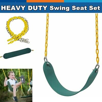 Heavy Duty Swing Seat Set Kit Accessories For Adult Kids Playground w/2 Chains