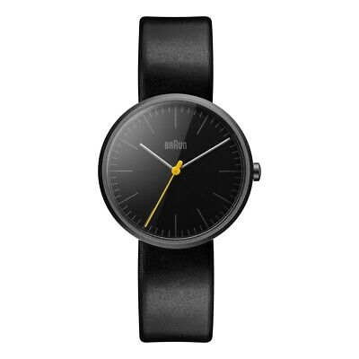 Braun BN0172BKBKL Mens Classic Slim Black Leather Strap Watch RRP £165