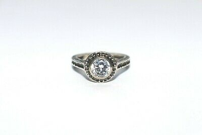 SILPADA Hammered Sterling Silver 925 CZ Perfect Bliss Ring Sz 7 R2076