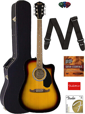 Fender FA-125CE Dreadnought Acoustic-Electric Guitar - Sunburst w/ Hard Case