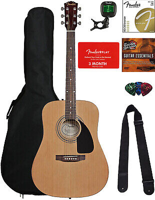 FENDER USA Authentic Deluxe Dreadnaught Acoustic Guitar Gig Bag 099-1532-006